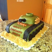 Army Tank Birthday My little cousin is obsessed with Army tanks so I thought this cake was fitting...