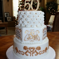 When One Gets To The 50Th Wedding Anniversary There Better Be A Big Beautiful Cake At The End Taahhh Daaahhh Lol This Cake Was Super Fun When one gets to the 50th Wedding Anniversary, there better be a BIG beautiful cake at the end. Taahhh Daaahhh. Lol. This cake was super...