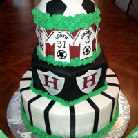 High School Soccer Banquet Cakes