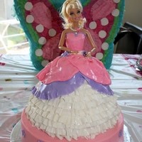 Princess Barbie Cake This was my first Barbie cake. Phew.