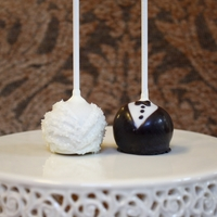 Wedding, Bride And Groom Cake Pops A perfect leave behind or table decoration (per person) for a wedding. :)