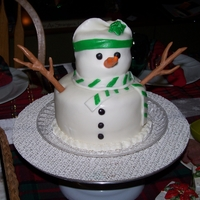 Snowman Centerpiece Frosty visited our Christmas this year in a very sweet way :) A two tier mini cake made from vanilla cake and raspberry/almond filling.