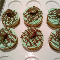 Aero Mint Cupcakes Drizzled with Bar one