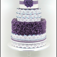 Purple And Blue Wedding Cake Made for Cake Central Magazine - purple and blue theme