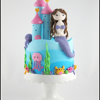 Mermaid Castle Cake For my daughter's 8th birthday.