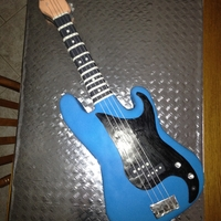 Bass Guitar Cake I made for my son's 15th birthday