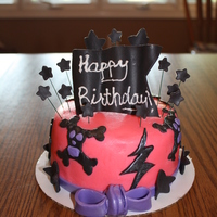 Girly Rock Star Cake