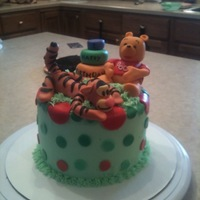 1St Birthday Smash Cake The Pooh and Tigger were made from fondant.