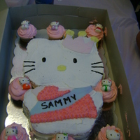 Hello Kitty I made this Hello Kitty cake for my daughters 5th birthday, I used a printed out Hello Kitty picture from line and cut the outline onto the...