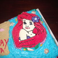 Ariel Sheet Cake this is full sheet cake with an added ariel cake on top.