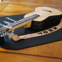 Acoustic Guitar 50Th Birthday Cake