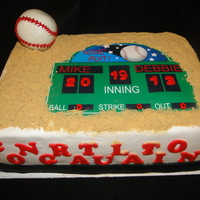 Groom Loves Baseball And Was Getting Married This Cake Was Done For An Office Party Groom loves baseball and was getting married. This cake was done for an office party