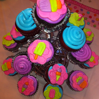 My Daughter's 8Th Birthday 'cupcake Cake' Cupcake stand birthday cake