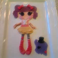 Lalaloopsy Cake Topper Hand Cut   Lalaloopsy cake topper. Hand cut.