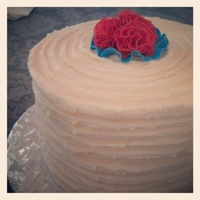 Red, White & Blue 6 layers of vanilla cake with vanilla buttercream