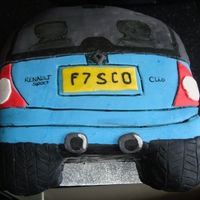 Car Renault Clio Cake This was a birthday cake for a man who loved his car. :)