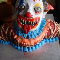 Killer Clown Killer Clown cake for Halloween