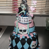 Monster High Cake this was a birthday cake for my twin daughters. they love monster high!