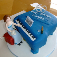 Grand Piano Cake piano cake for friends sister who plays & teaches piano