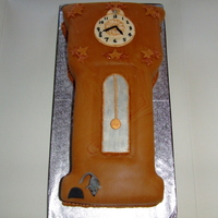 Grandfather Clock Birthday Cake 85th birthday cake for my friend who loves clcocks.It is a lemon madeira cake filled with raspberry jam & buttercream. covered with...
