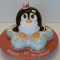3D Penguin Cake Isn't she a cutie? I really enjoyed making this cake for a friend for her daughter's first birthday. TFL.