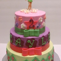 Tinkerbell Themed Cake Just a simple 3 tier buttercream cake acccessorized with fondant.