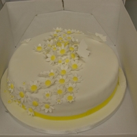 Daisy Cake daisy covered cake