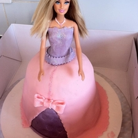 Barbie Cake my first and last barbie cake lol it was harder than i thought it would be and think it was cursed never had so many things go wrong before...