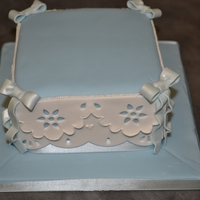 Blue Lace Work Cake blue lace work cake