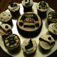 Boston Bruins Cuppies   Boston Bruins Cupcakes !