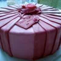 Burgundy Pleated Cake