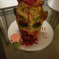 Zombie Cake Zombie cake for an end of the world 2012 party.