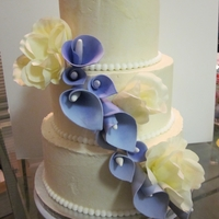 Begg's Wedding Cake Purple Calla Lily Wedding Cake