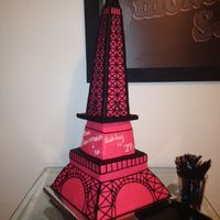 Eiffel Tower Cake Eiffel Tower birthday cake.