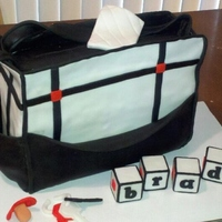 Black And White Diaper Bag This was for a baby shower, and the theme was black and white with red accents. WASC with vanilla buttercream filling on bottom, and...