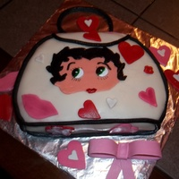 Happy Birthday To Me Lol  Hi I always wanted to try to make a purse cake I love purses and Betty Boop so I figured I'll use both I made this for my birthday...
