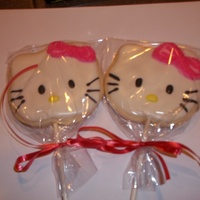 Hello Kitty Cookies   I made these for a friends little girl I couldn't wait to make them when the cutter finally came lol