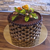 Autumn Acorn Cake I made the decorations from white modelling chocolate. The cake is a mud cake with a combination of ganache and chocolate SMBC for the...