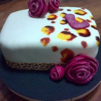 Animal Print Cake *ANIMAL PRINT CAKE basic cake covered with fondant