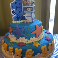 Two Tier Fondant Cake  It's a triple chocolate cake covered in MM fondant and it's my first two tier cake. Thanks for all the valuable advises that I...