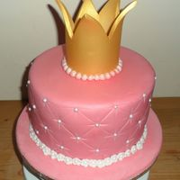 Princess Crown Birthday Cake Princess crown birthday cake.