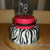 Zebra And Fuschia Cake Due To Hot Weather I Had To Do This Cake At Night It Is A Hot Pink In Daylight Zebra and fuschia cake. Due to hot weather I had to do this cake at night, it is a hot pink in daylight.