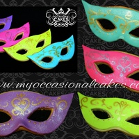 Hand Painted Fondant Masks On Nfsc Hand painted fondant masks on NFSC.