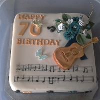 Happy 70Th :) For my partners music loving father, notes are not the best but he appreciated it.
