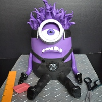 This Is The Evil Minion Cake I Made Today For My Sons School Fundraiser This is the 'evil minion cake' I made today for my sons school fundraiser: