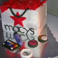Macy's Shopping Bag Cake My 1st Shopping bag cake. I think it came out OkAy! What do you think? It is for my sis-inlaw-to-be Bridal shower.