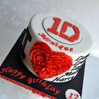 A 1Direction Themed Cake For A Young Lady Whos A Huge Fan Of The Boy Band A 1Direction themed cake for a young lady who's a HUGE fan of the boy band.