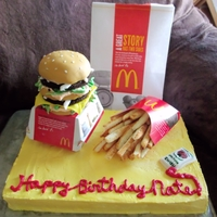 Big Mac And Fries! I made this cake for my hubby?s birthday, he LOVES a Big Mac and fries. He was really surprised with this cake, and loved it! Im really...