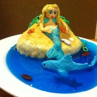 Mermaid Isle Cake made for my son's 5th birthday. I followed a tutorial by Fancy Topcake.to make the mermaid out of gumpaste. My son said he wanted...