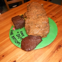 Dam Fine Beaver Cake The beaver is hubby's totem animal, so I decided to make him one for his birthday cake. Experimented with a different technique for...